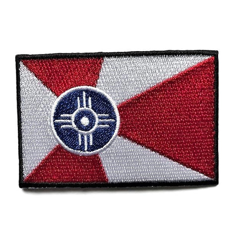 "City of Wichita, Kansas Flag Sew / Iron-On Patch (2"" x 3"")"