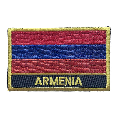 "Armenia Flag Sew / Iron-On Patch (2"" x 3"")"