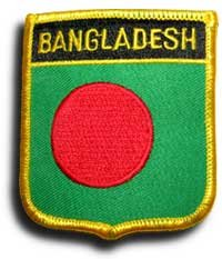 "Bangladesh Flag Shield Sew / Iron-On Patch (2.75"" x 2.35"")"
