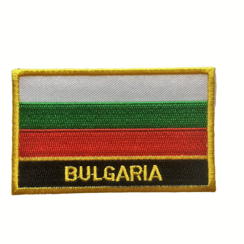 "Bulgaria Flag Sew / Iron-On Patch (2"" x 3"")"