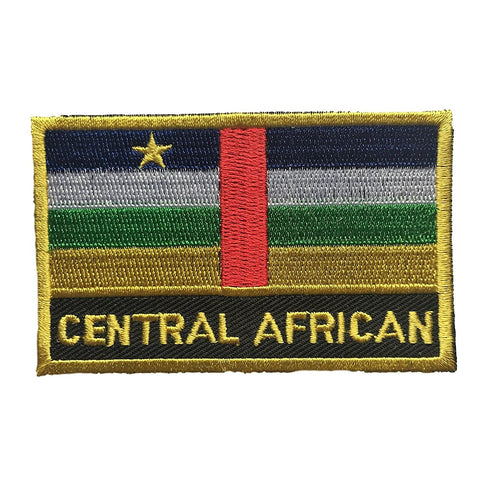 "Central African Republic Flag Sew / Iron-On Patch (2"" x 3"")"