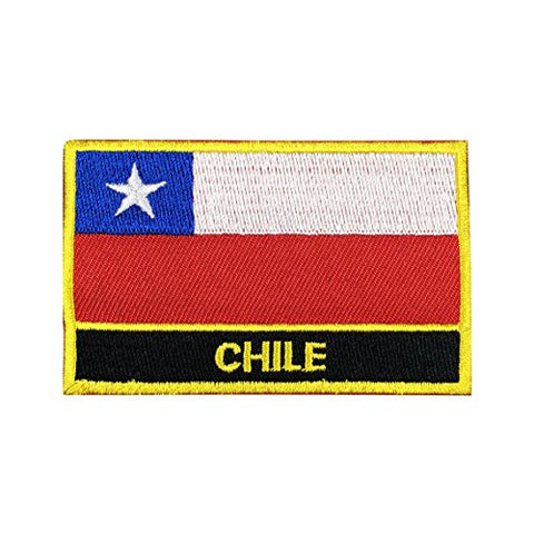 "Chile Flag Sew / Iron-On Patch (2"" x 3"")"