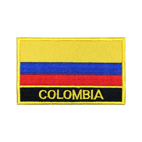 "Colombia Flag Sew / Iron-On Patch (2"" x 3"")"