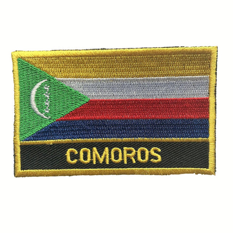 "Comoros Flag Sew / Iron-On Patch (2"" x 3)"
