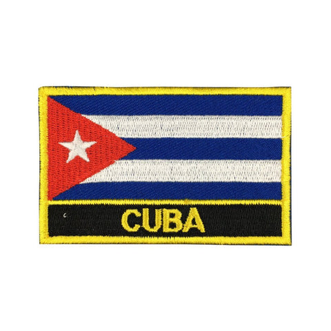 "Cuba Flag Sew / Iron-On Patch (2"" x 3"")"