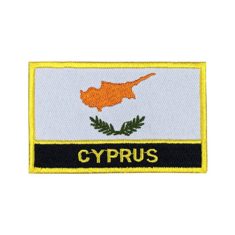 "Cyprus Flag Sew / Iron-On Patch (2"" x 3"")"