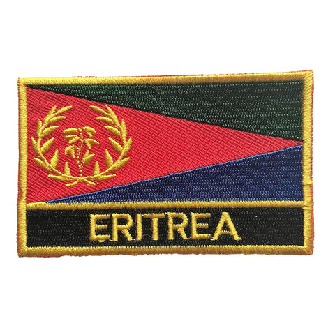 "Eritrea Flag Sew / Iron-On Patch (2"" x 3"")"