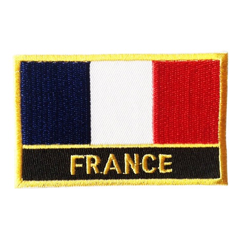 "France Flag Sew / Iron-On Patch (2"" x 3"")"