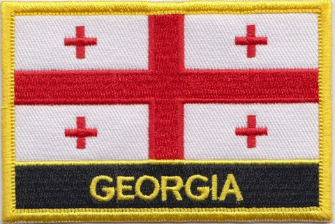 "Georgia Flag Sew / Iron-On Patch (2"" x 3"")"