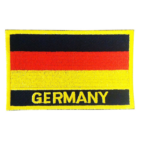 "Germany Flag Sew / Iron-On Patch (2"" x 3"")"