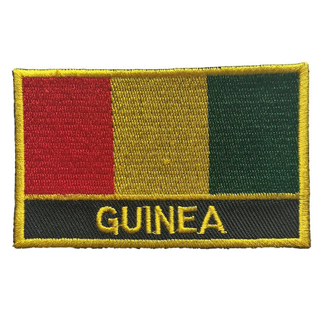 "Guinea Flag Sew / Iron-On Patch (2"" x 3"")"