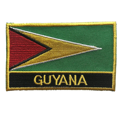"Guyana Flag Sew / Iron-On Patch (2"" x 3"")"
