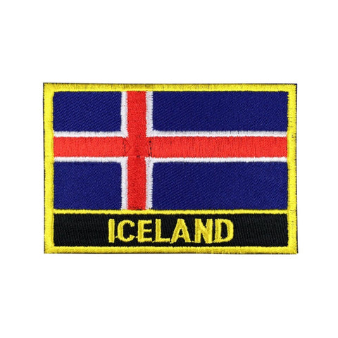 "Iceland Flag Sew / Iron-On Patch (2"" x 3"")"