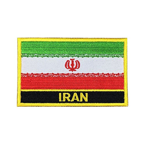 "Iran Flag Sew / Iron-On Patch (2"" x 3"")"