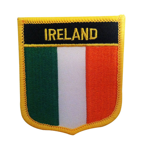 "Ireland Flag Shield Sew / Iron-On Patch (2.75"" x 2.35"")"
