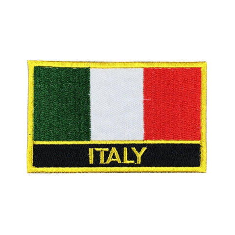 "Italy Flag Sew / Iron-On Patch (2"" x 3"")"