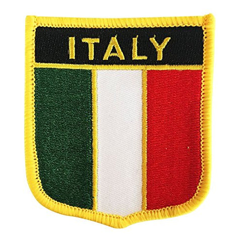 "Italy Flag Shield Sew / Iron-On Patch (2.75"" x 2.35"")"