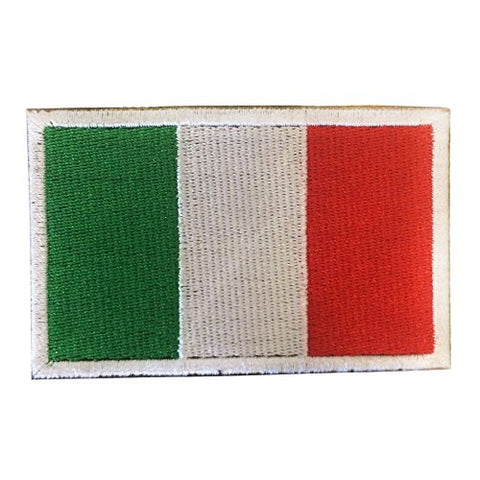 "Italy Flag Tactical Patch w/ Velcro (2"" x 3"")"