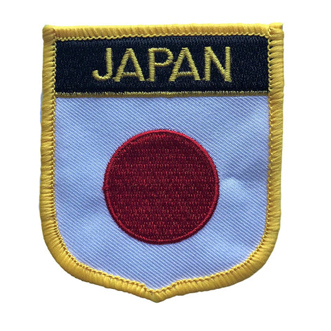 "Japan Flag Shield Sew / Iron-On Patch (2.75"" x 2.35"")"
