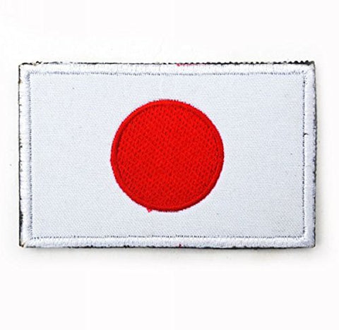 "Japan Flag Tactical Patch w/ Velcro (2"" x 3"")"