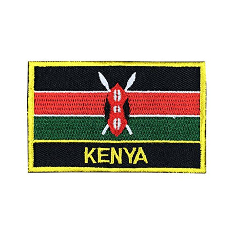 "Kenya Flag Sew / Iron-On Patch (2"" x 3"")"