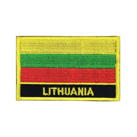 "Lithuania Flag Sew / Iron-On Patch (2"" x 3"")"