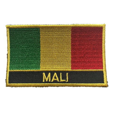 "Mali Flag Sew / Iron-On Patch (2"" x 3"")"
