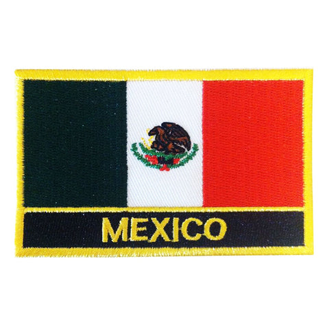"Mexico Flag Sew / Iron-On Patch (2"" x 3"")"