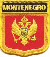"Montenegro Flag Shield Sew / Iron-On Patch (2.75"" x 2.35"")"