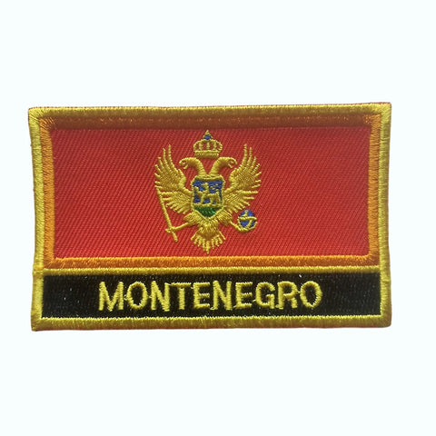 "Montenegro Flag Sew / Iron-On Patch (2"" x 3"")"