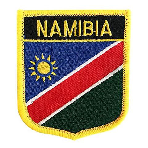 "Namibia Flag Shield Sew / Iron-On Patch (2.75"" x 2.35"")"