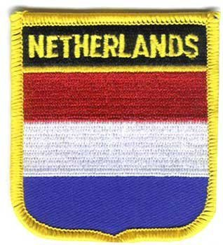 "Netherlands (Holland) Flag Shield Sew / Iron-On Patch (2"" x 3"")"
