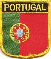 "Portugal Flag Shield Sew / Iron-On Patch (2.75"" x 2.35"")"