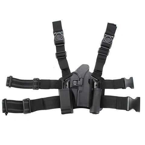 Tactical Right Leg Thigh Holster with Magazine Torch Pouch