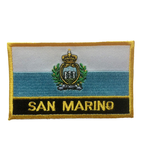 "San Marino Flag Sew / Iron-On Patch (2"" x 3"")"