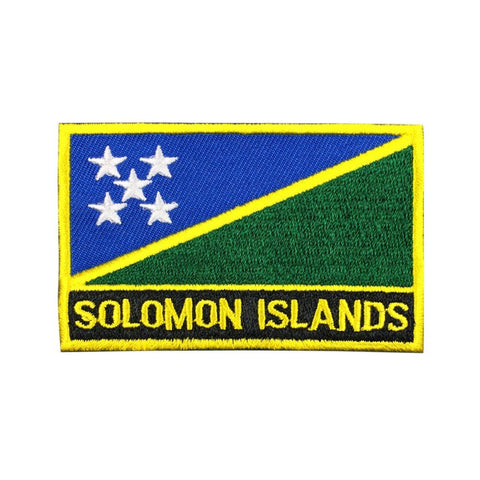 "Solomon Islands Flag Sew / Iron-On Patch (2"" x 3"")"