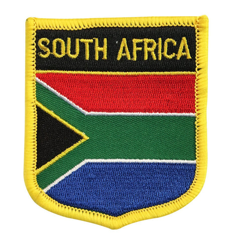 "South Africa Flag Shield Sew / Iron-On Patch (2.75"" x 2.35"")"