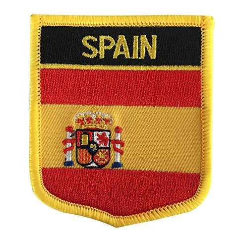 "Spain Flag Shield Sew / Iron-On Patch (2.75"" x 2.35"")"