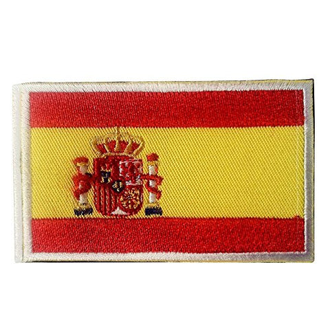 "Spain Flag Tactical Patch w/ Hook & Loop (2"" x 3"")"