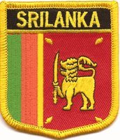 "Sri Lanka Flag Shield Sew / Iron-On Patch (2.75"" x 2.35"")"