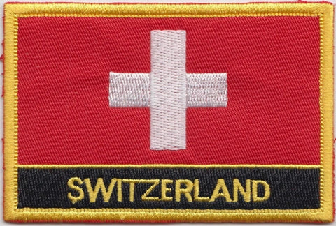 "Switzerland Flag Sew / Iron-On Patch (2"" x 3"")"