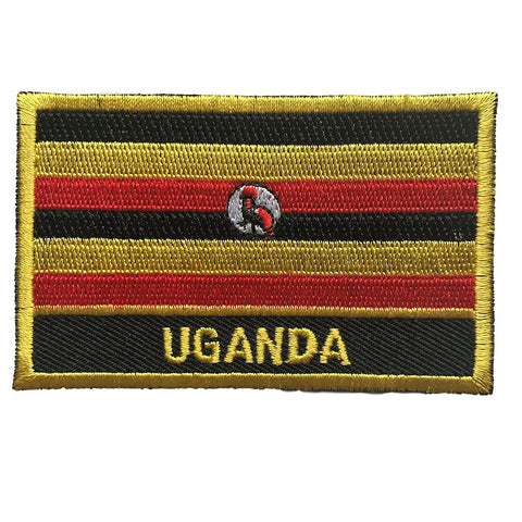 "Uganda Flag Sew / Iron-On Patch (2"" x 3"")"