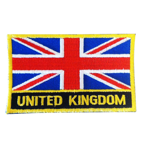 "United Kingdom Flag Sew / Iron-On Great Patch (2"" x 3"")"