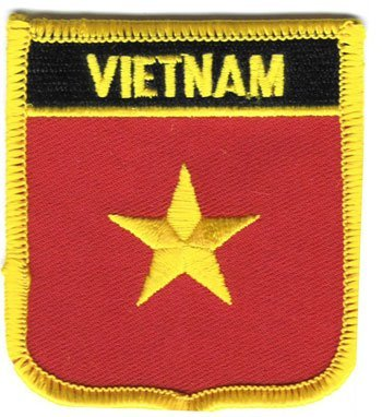 "Vietnam Flag Shield Sew / Iron-On Patch (2.75"" x 2.35"")"