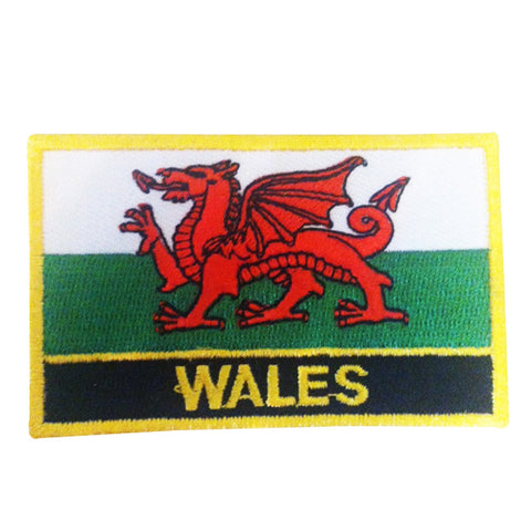 "Wales Flag Sew / Iron-On Patch (2"" x 3"")"