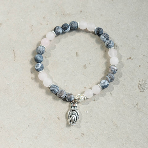 Moonstone and Jasper Mala Bracelet - aneshkas