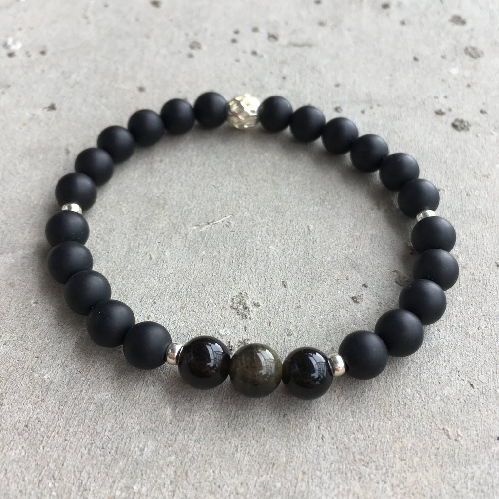 Black Onyx and Obsidian Stones - aneshkas