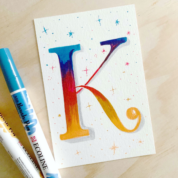 Let's Make Art Matter for Kaitlyn- March 2020 Lettering