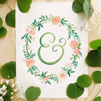 Monogram Wreath Lettering Kit