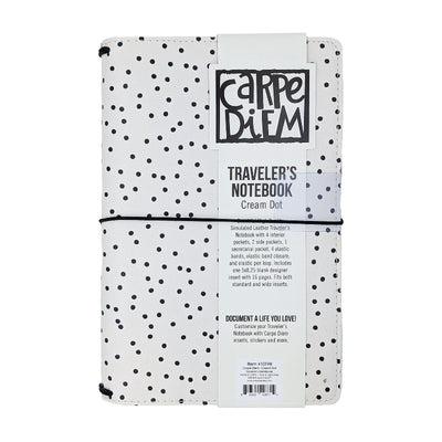 Cream Dot Traveler's Notebook Cover